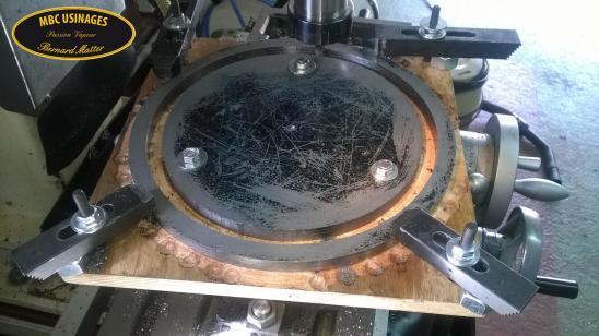 Usinage cercles interieurs des roues arrieres